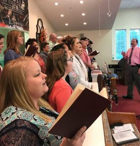 Choir Singing at Linwood Baptist Church