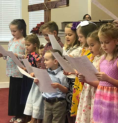 Children Singing at Linwood Baptist Church