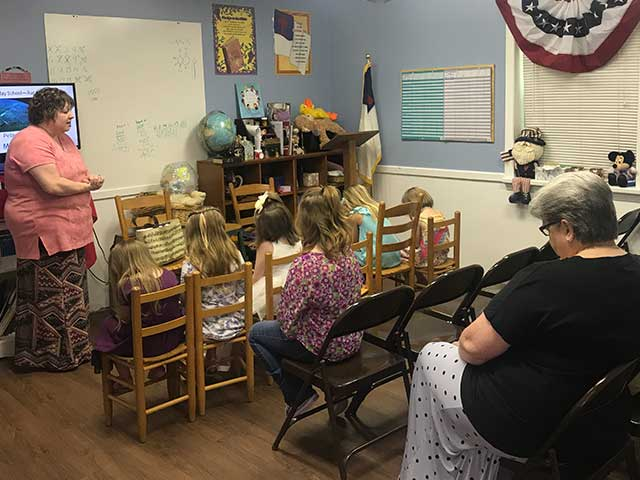 Kindergarten and First Grade Sunday School Class