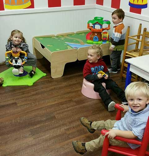 Preschool Children in Sunday School